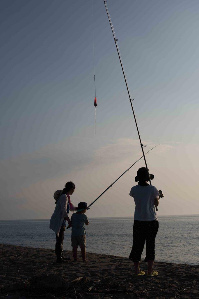 釣果フグ三匹